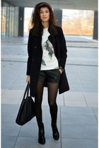 flower Sheinsidecom sweatshirt - patent leather Zara boots