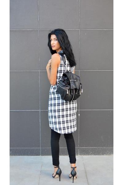 backpack anna xi bag - plaid choiescom dress - fine Zara heels