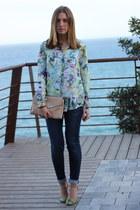 aquamarine Zara shirt