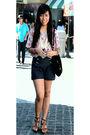 Pink-manila-top-hi-waisted-shorts-telebasura-necklace