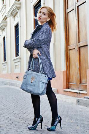 Mango coat - Qpid shoes - DIY dress - Guess bag - Guess watch