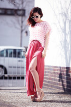 bubble gum DIY top - bubble gum Zara skirt