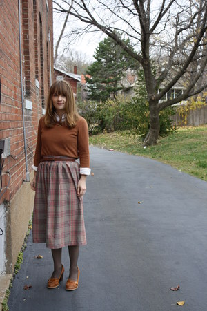 asos shoes - tawny H&M shirt - heather gray vintage skirt