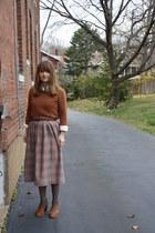 asos shoes - tawny H&M shirt - heather gray vintage skirt