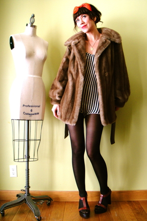 brown vintage coat - beige American Apparel intimate