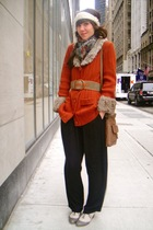 orange vintage cardigan