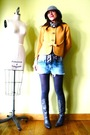 Gold-vintage-jacket-gray-jcrew-tights-gray-vintage-boots