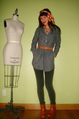 gray American Apparel dress