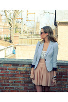 H&M blazer - BB Dakota top - Club Monaco skirt - JCrew heels