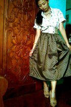 wrangler from dads blouse - Vintage costume skirt - Zara shoes