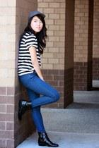 black stripes Forever 21 top