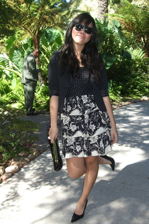 Ray Ban sunglasses - H&M blazer - Forever21 dress - Forever21 purse - Wet Seal s