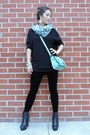 Black-asos-boots-black-velvet-edressme-leggings-light-blue-kate-spade-bag