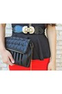 Black-charlotte-russe-bag-black-candies-heels-black-statement-vintage-belt