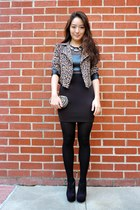 black ankle deb boots - black Charlotte Russe dress