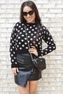 Black-polka-dot-crop-boohoo-sweater-black-crossbody-kate-spade-bag