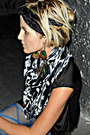 Circle-urban-outfitters-scarf-black-silk-rag-and-bone-dress