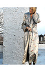 Silver-kimono-vintage-coat-navy-velvet-torn-by-ronnie-kobo-dress