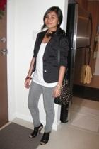 Mango shirt - RW blazer - thrifted jeans - le chateau shoes - H&M purse - Random