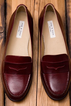 crimson rag & bone loafers
