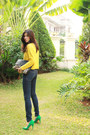 Yellow-knit-h-m-jumper-navy-high-waisted-cheap-monday-jeans