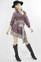 light purple sheer paisley dress