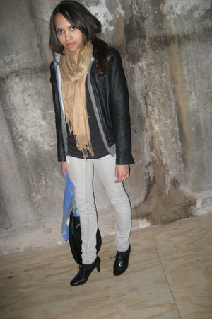 H&M jacket - H&M scarf - payless shoes - American Apparel t-shirt
