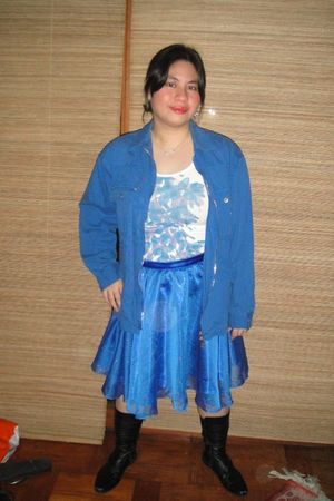 blue La Pagayo jacket - white Gap top - blue Gift from a Friend skirt - black Ni