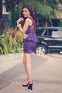 Purple-peplum-dress
