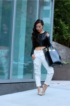 Bag bag - Jeans jeans - Shoes loafers - Top top