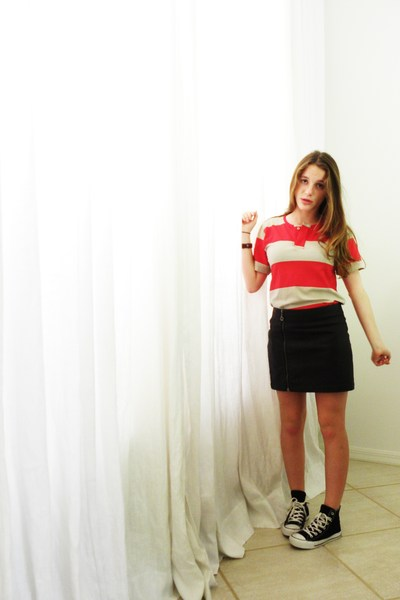 American Apparel shirt - Forever 21 skirt - Converse shoes