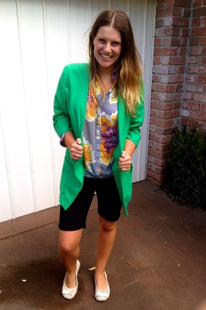aquamarine unknown Sasch blazer - purple chiffon ids shirt