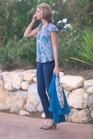 Rebecca Taylor top - poetic licence shoes - Paige jeans - Anthropologie jacket
