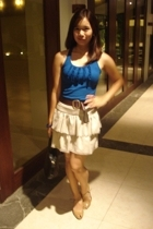 blouse - belt - Topshop skirt - Charles & Keith shoes - accessories