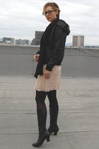 black BB Dakota jacket - black Target tights - black One of 2 boots - yellow thr