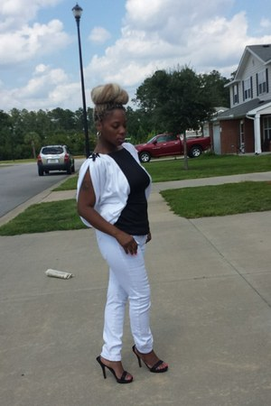 white Goodwill blouse