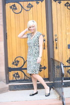 leopard H&M dress - black and gold Vince Camuto watch