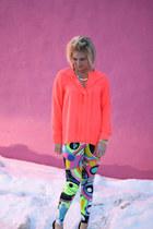 neon H&M top - neon leggings ShawtynStilettos leggings