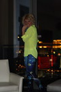 Booties-forever-21-boots-leggings-neon-express-top