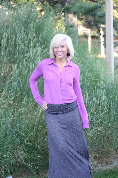 maxi skirt LuLaRoe skirt - button up Target top