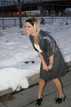 sequins TJ Maxx jacket - Mossimo dress - ShawtynStilettos accessories