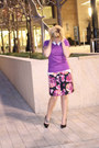 Purple-mossimo-sweater-amethyst-floral-skirt-express-skirt-h-m-top