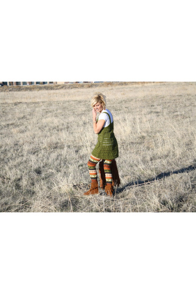 moccassins Minnetonka boots - winter reindeer ShawtynStilettos leggings