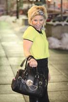 lime green Forever 21 top - black pencil skirt Forever 21 skirt