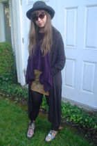 gray Victorias Secret cardigan - purple Victorias Secret top - brown Express ski