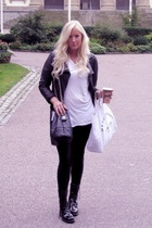 acne panties - Chanel purse - Zara jacket - Marc by Marc Jacobs purse