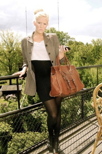 Chlo Edith purse - second hand jacket - american apperal dress