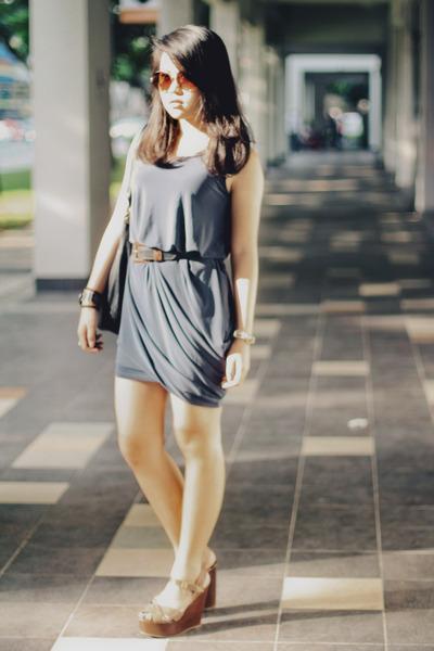 thisistransition dress - Aldo heels - aigner belt