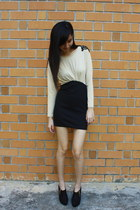 black boots - nude thewildwolves dress