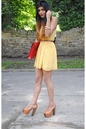Glamorousuk dress - Ebay bag - asos heels - claw gold cuff Ebay bracelet